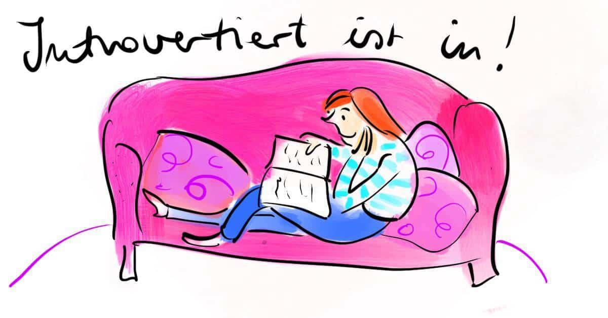 introvertiert auf dem sofa