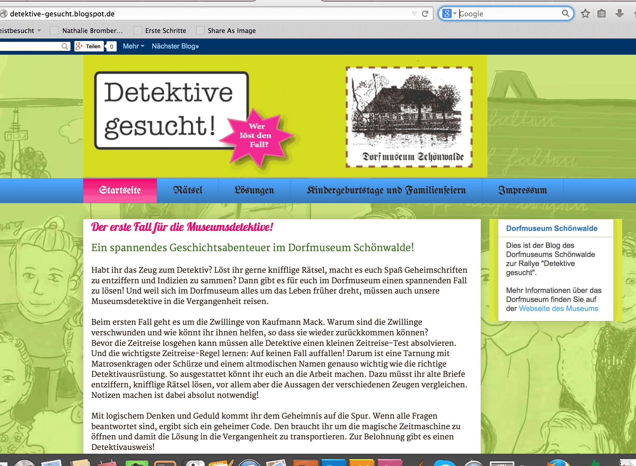 Detektiv-Rallye – Konzeption eines Events für Kinder