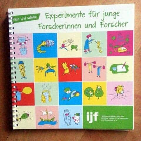 Experimentierbuch der ijf mit Illustrationen von Nathalie Bromberger