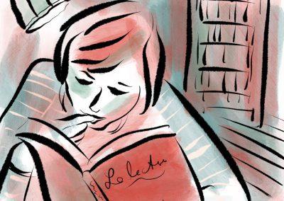 Lesende Frau