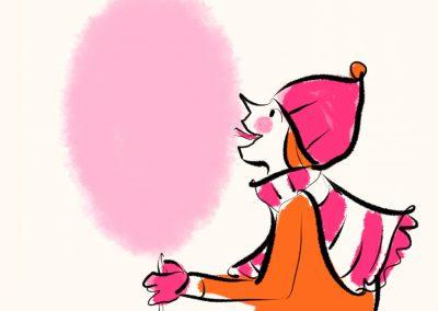 Mädchen mit Zuckerwatte
