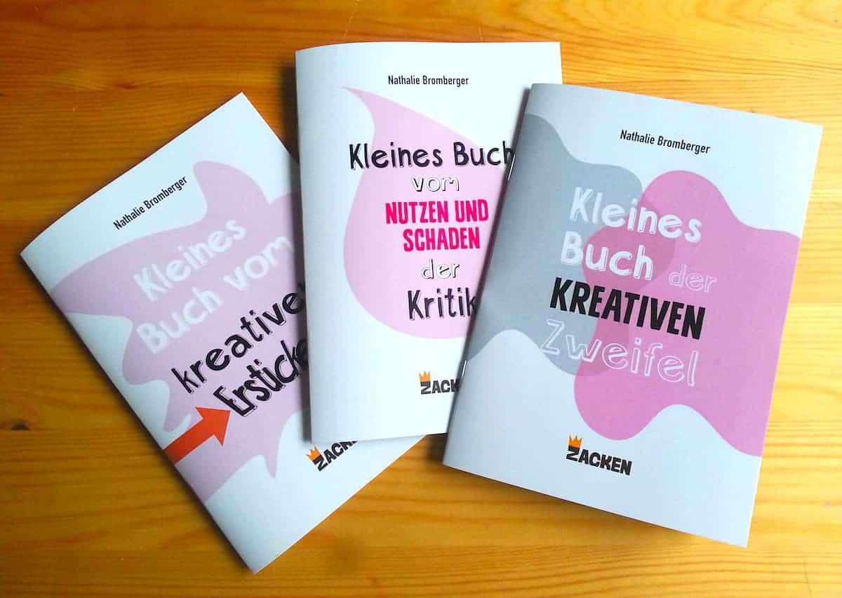 Die kleinen Bücher über die kreative Arbeit aus dem Zacken Verlag