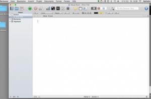 Buchkonzept Scrivener Screenshot