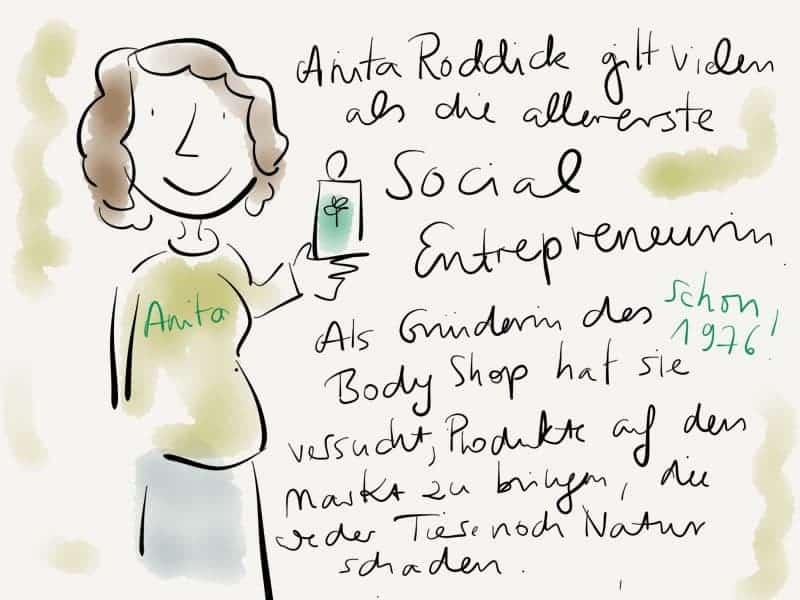 Anita Roddick hat den Bodyshop gegründet