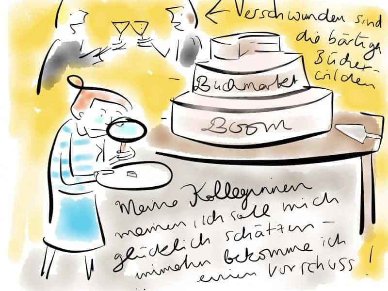 Autorin bekommt ein kleines Stück vom Kuchen
