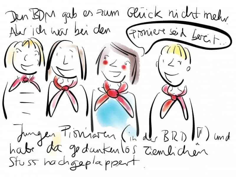 Mädchen bei den jungen Pionieren.