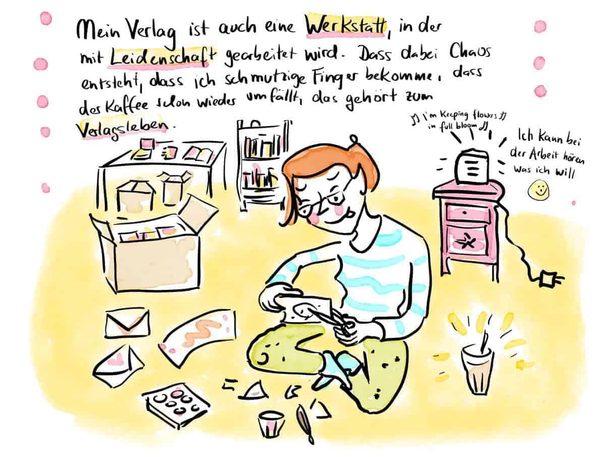 Verlagstraum Szene 2: Der Verlag als kreative Werkstatt