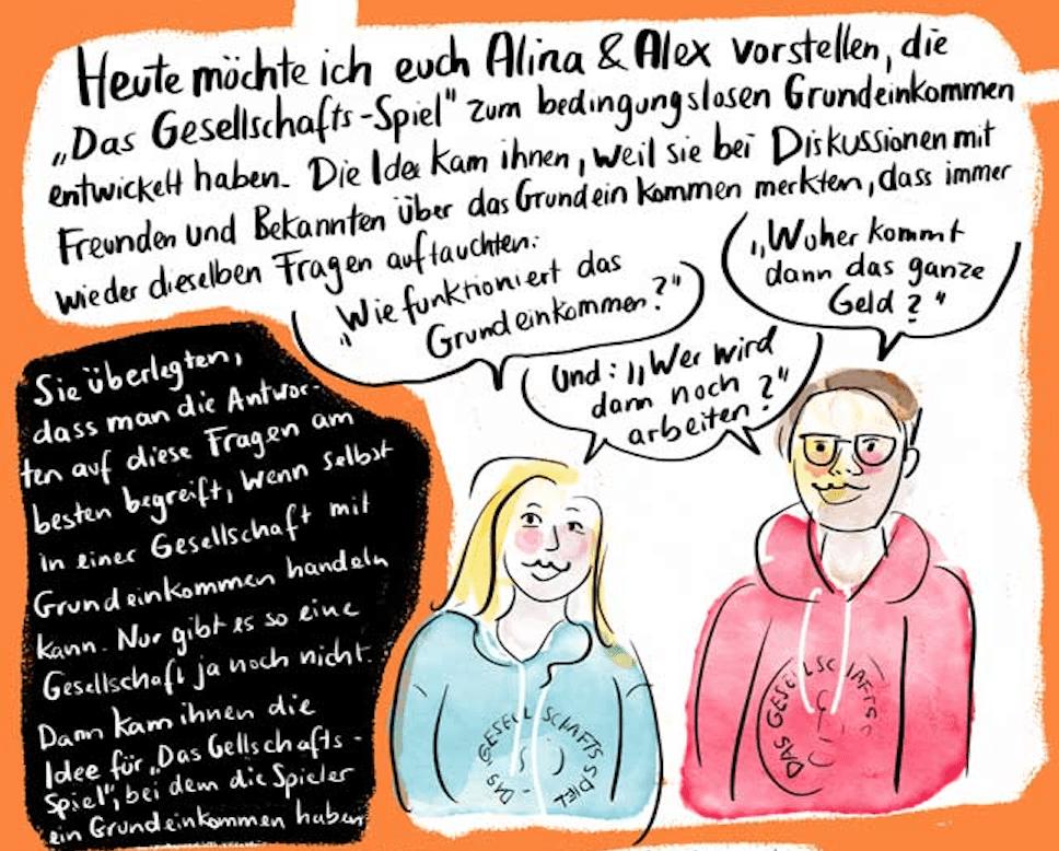 """""""Das Gesellschaftsspiel""""  Comic Interview und Rezension"""