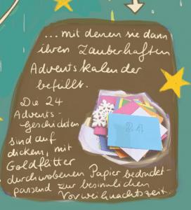 Adventskalender mit Märchen befüllt