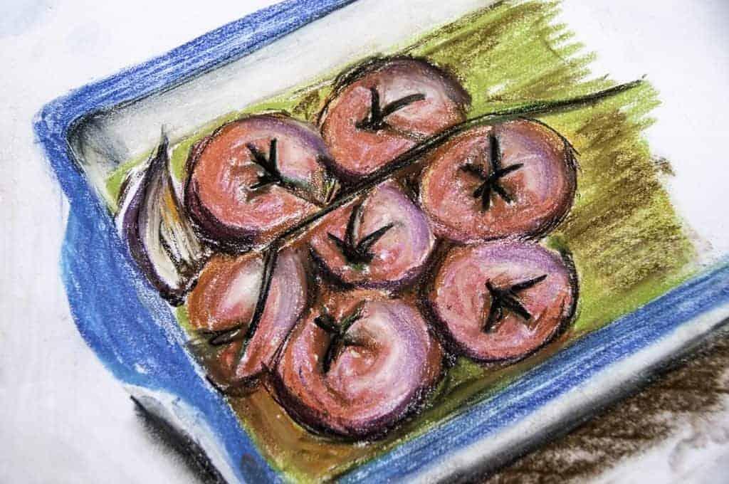 Tomaten in Ofenschale