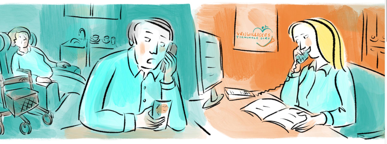 Illustration für Webseite Ehrenamt Hospiz