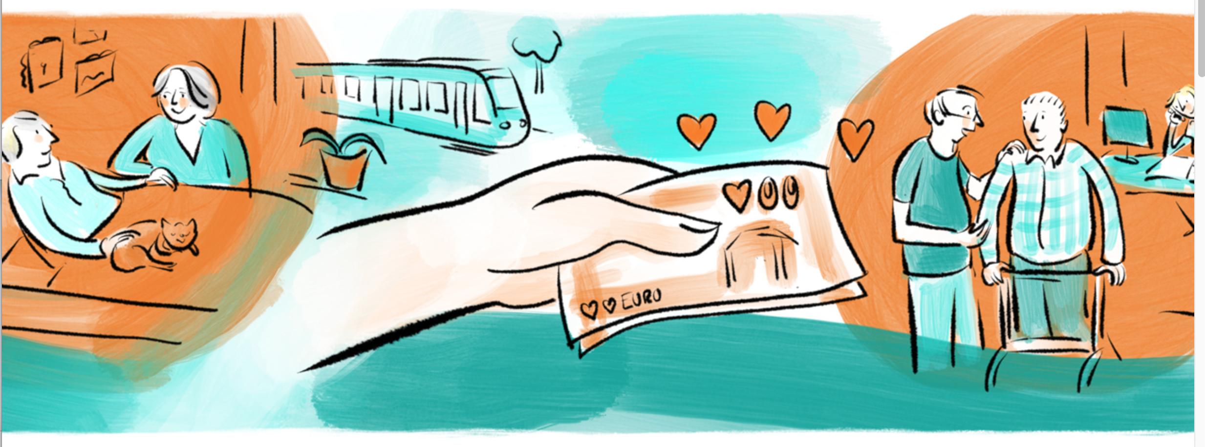 Illustration zum Thema Spenden