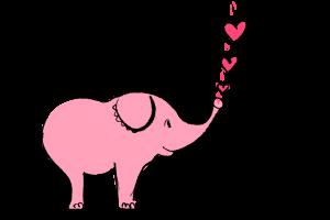 Elefant bläst Herzchen